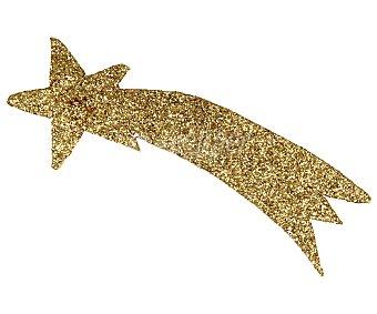 Euromarchi Colgante de 17x6 centímetros con forma de estrella de color dorado y con acabado brillante euromarchi