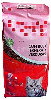 Compy Comida gato croqueta buey ternera verduras Paquete 7 kg
