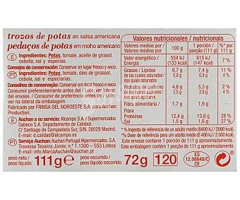 Auchan Trozos de pota en salsa americana 111 gramos