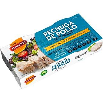 CASA MATACHIN Pechuga de pollo al natural neto escurrido Pack 2 latas 58 g