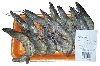 Pescanova Langostino congelado crudo mediano (50/70 piezas Kg) a granel Bandeja de 250 g (peso aproximado)