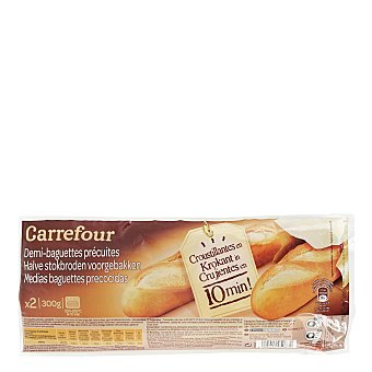 Carrefour Baguette precocida Pack 2x150 g