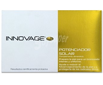 INNOVAGE Complemento alimenticio, potenciador solar (prepara la piel para un bronceado intenso y uniforme) 53 Gramos