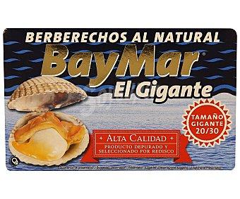 Baymar Berberechos al natural El Gigante 20/30 piezas 65 g