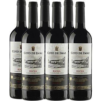 COTO DE IMAZ Selección Aniversario Vino tinto reserva D.O. Rioja Caja 6 botellas 75 cl 6 botellas 75 cl