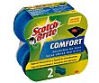 Estropajo con esponja confort Pack 2 uds  Scotch Brite
