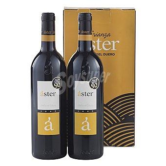"Aster Estuche de vino D.O. ""ribera del Duero"" tinto crianza Pack 2x75 cl"