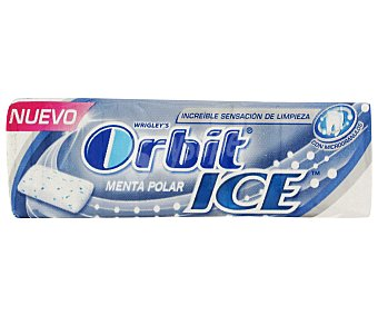 Orbit Chicles de menta polar ice 14 gr
