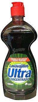 BOSQUE VERDE Lavavajillas mano concentrado ultra  Botella de 600 cc