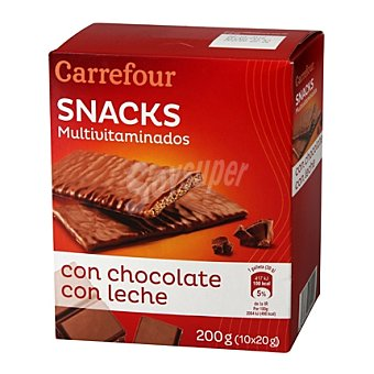 Carrefour Galletas multivitaminadas de chocolate con leche 210 g