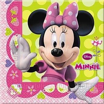 Minnie Servilletas decoradas 33x33 cm Paquete 20 unidades