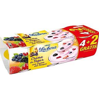 La Lechera Nestlé Crema de yogur con frutas del bosque + 2 gratis Pack 4 unidades 125 g
