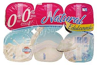 Hacendado Yogur desnatado natural edulcorado Pack 6 x 125 g - 750 g