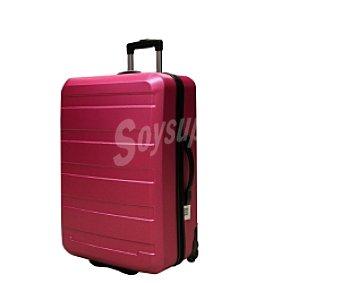 Productos Económicos Alcampo Maleta de 2 ruedasabs, Rígida, color rosa Medidas: 63x42x28