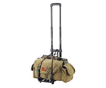 Auchan Carrito de viaje plegable, con peso de e ideal para transportar tus bolsas de viaje o maletas sin ruedas 1.350 kilos