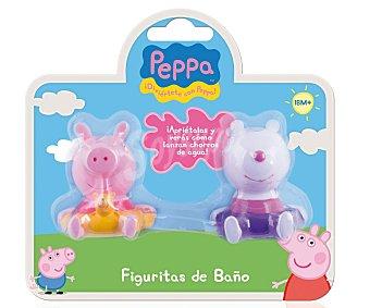 IMC Pack de 2 figuras para el baño Peppa Pig y sus amigos Pack de 2 Unidades