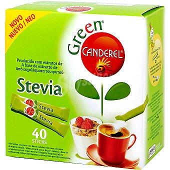 Canderel Edulcorante stevia de origen natural bajo en calorías Green caja 40 sobres