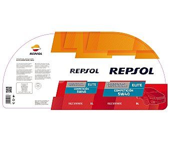 REPSOL Lubricante Sintético para motores gasolina y Elite Competición 5 Litros