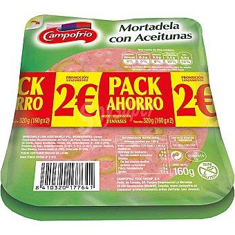 Campofrío Mortadela con aceitunas en lonchas Pack 2 envase 160 g