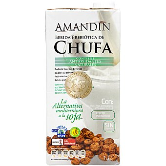 AMANDIN bebida de chufa antioxidante con efecto prebiótico envase 1 l
