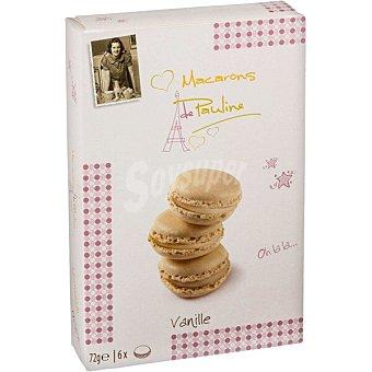 Macarons de Pauline Galletas rellenas de crema de vainilla Estuche 72 g