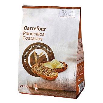 Carrefour Panecillos tostados con pepitas de chocolate 200 g