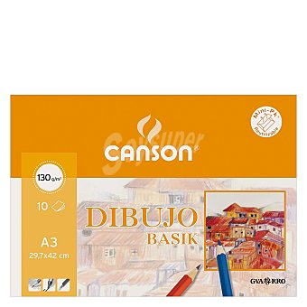 Canson Cuaderno Dibujo Minipack Basik A3 Liso 10 ud