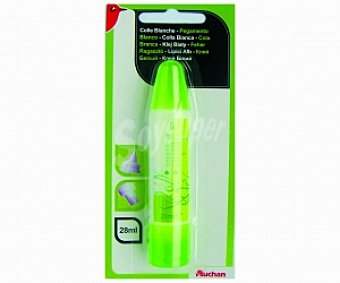 AUCHAN Cola Blanca Auchan con Doble aplicador 1 Unidad (28 ml)
