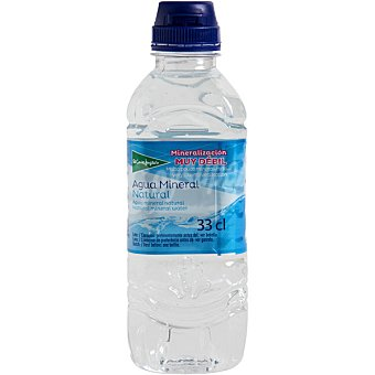 El Corte Inglés Agua mineral natural de mineralización muy débil botella 33 cl 33 cl