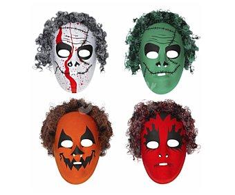 Widmann Surtido de máscaras con pelo para Halloween Máscara con pelo