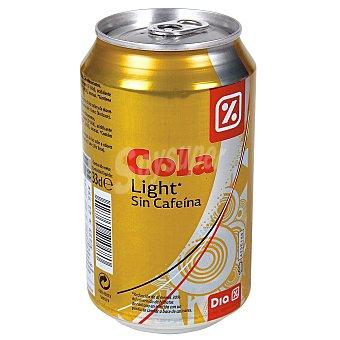 DIA Refresco de cola light sin cafeina lata 33 cl Lata 33 cl