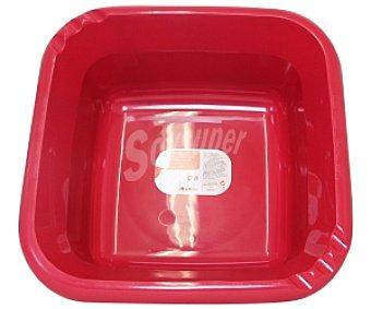Auchan Barreño cuadrado Rojo 6 Litros 1 Unidad