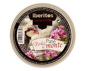 Iberitos Paté de perdiz de monte Lata de 140 g