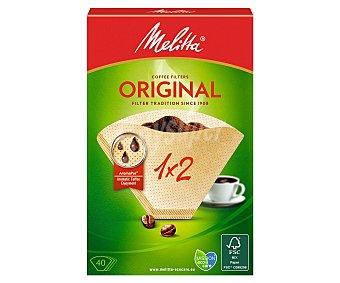 Melitta Filtro cafetera 1X2 40 Unidades