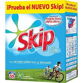 Skip Detergente máquina polvo Active Clean Maleta 55 cacitos