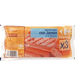 Carrefour Salchicha con Jamón Braseado 250 g