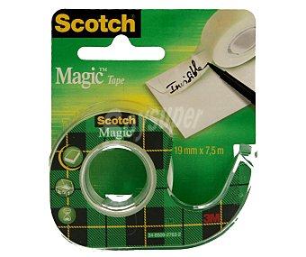 Scotch Cinta mágica transparente de 19 milímetros y 7.5 metros con dispensador 1 unidad