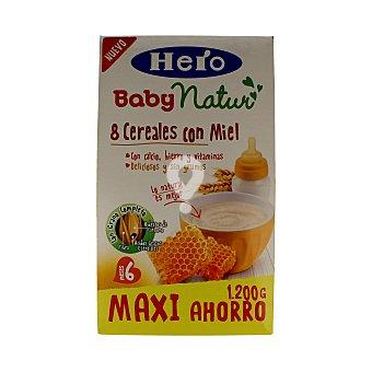 Natur Papilla 8 cereales con miel 6 meses