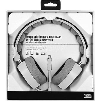 COLORBLOCK Auricular con micrófono en color blanco CBHSFILAW 1 Unidad