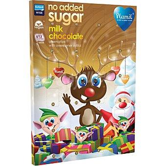 Plamil Calendario de adviento de chocolate con leche sin azúcares añadidos caja  110 g