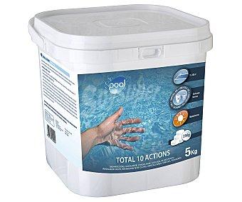 SPOOL Tratamiento 10 funciones (desinfectante, algicída, floculante y antical...) en tabletas de 250 gramos 5 kg