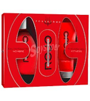 Posseidon Estuche de colonia spray 150 ml. + gel 150 ml. Rojo 1 ud