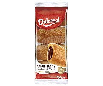 DULCESOL Napolitanas de crema de chocolate 8 unidades Bandeja 320gr