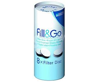 Brita Filtros para botellas filtrantes fill&go, durabilidad 1 semana/filtro 8 Unidades