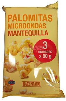 Hacendado PALOMITAS MICROONDAS MANTEQUILLA PAQUETE PACK 3
