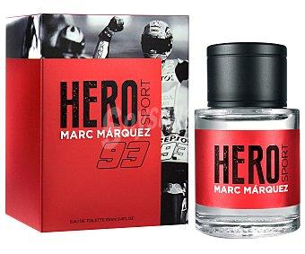 MARC MARQUEZ Hero Sport Eau de toilette para hombre con vaporizador en spray 100 ml