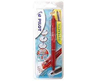 PILOT Frixion Bolígrafo tipo roller retráctil, punta media y grosor de 0.7mm, color rojo clicker Frixion clicker