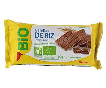 Auchan Tortitas de arroz con chocolate con leche ecológico 90 gramos