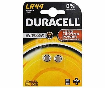 Duracell Pila Alcalina LR44 1,5V 2 Unidades