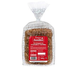 Pan integral de 5 cereales semillas 400 gr